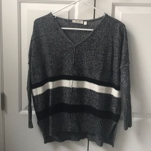 RD Style black and white stripe sweater